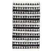"Black & White Chindi Rug - 36"" x 60"""